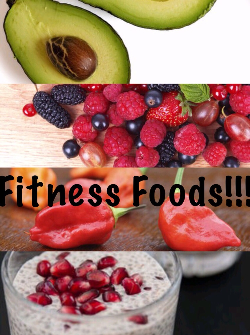 Avocados, berries, peppers and chia seeds are all examples of fitness super foods that help speed up metabolism and keep you feeling full