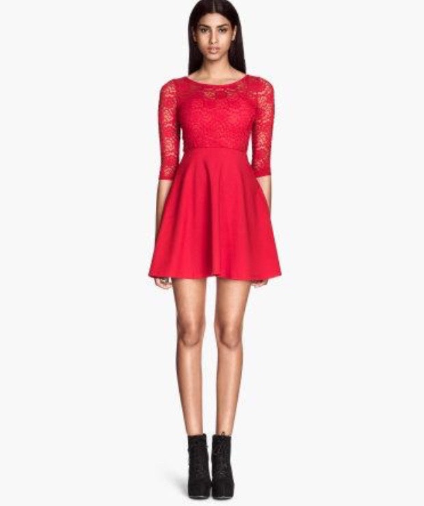 H&M Red Lace Dress