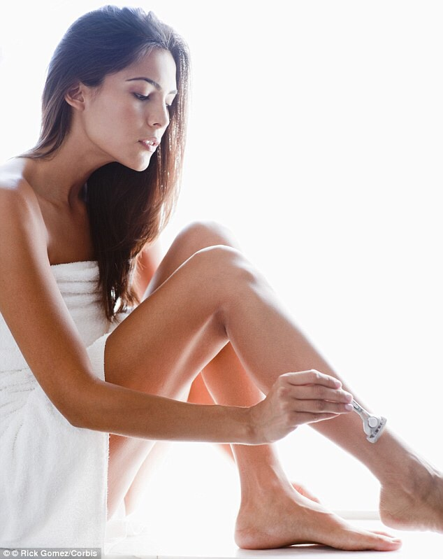 Shave your legs. Too get the smoothest, cleanest shave, use a high-quality razor and either a shaving soap for sensitive skin or a hair conditioner. This will make your skin as soft as possible!