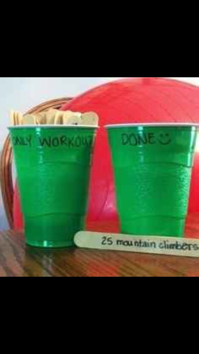 Use Popsicle sticks to keep yourself motivated💪