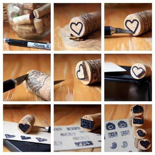 turn vine corks in to stamps