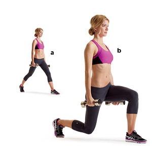 Split squats (50)