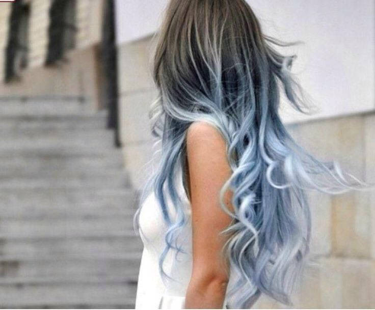 Fun Grey And A Silvery Blue Ombré