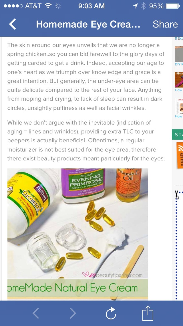 Homemade Eye Cream How To Get Rid Of Wrinkles Fine Lines And
