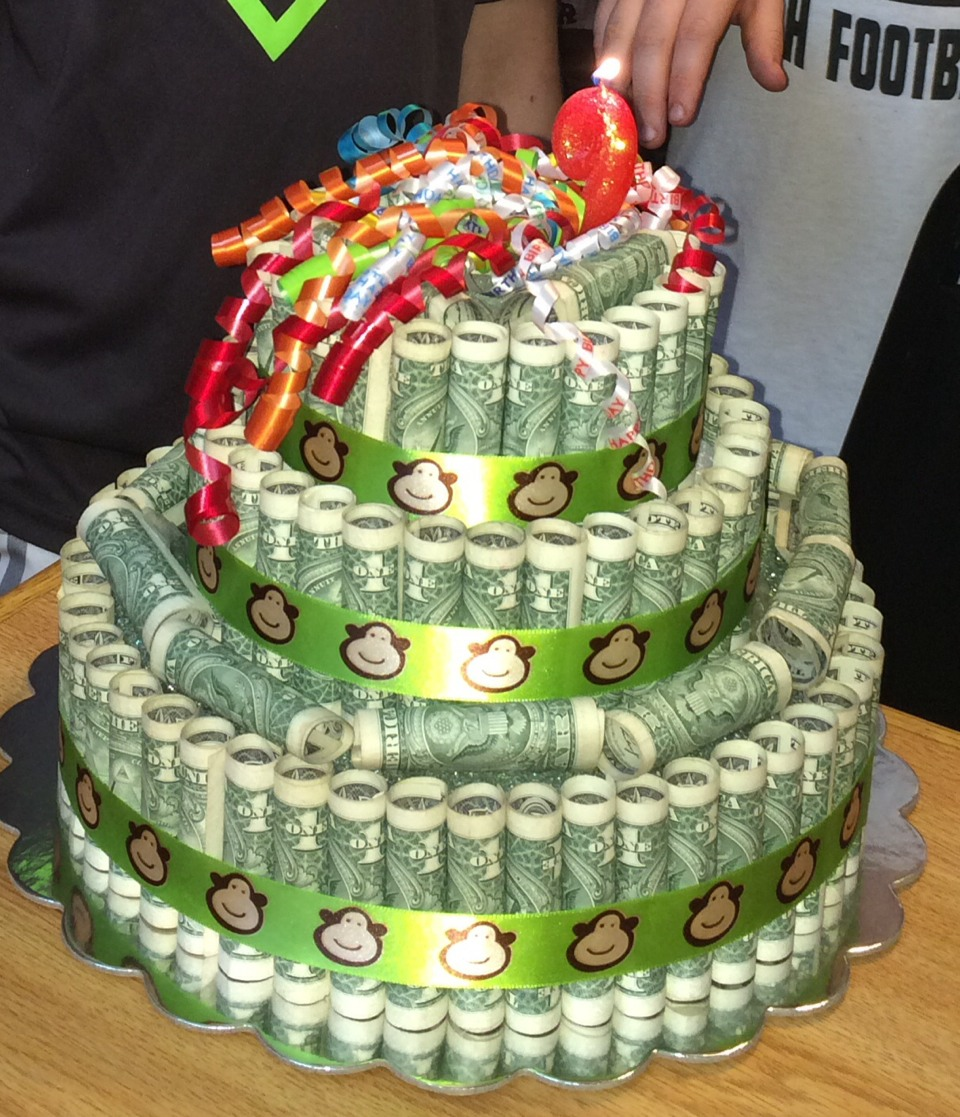 money birthday cake musely 5988