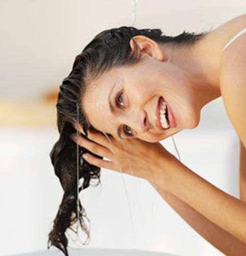 Don't add shampoo to your tips but to the scalp. Add container to the tips and rinse with mild water.