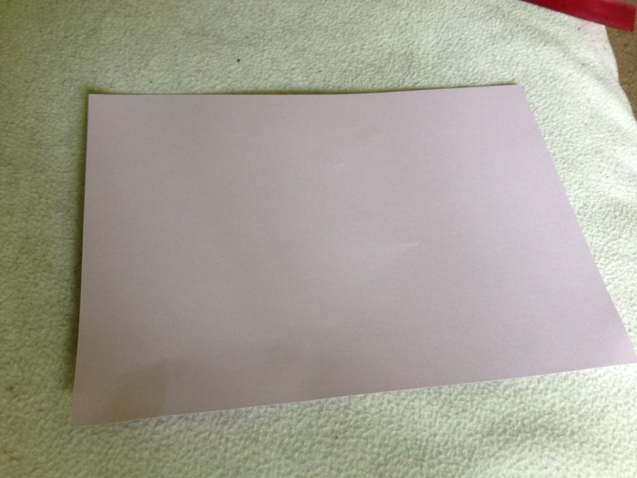 To make your card get a piece of card whatever size you want (as long as it fits in the envelope you made)