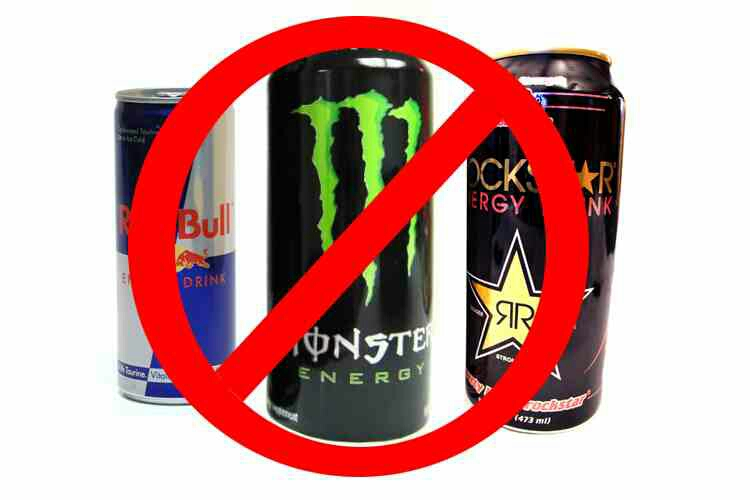 Energy drinks spike your glucose level then cause you to feel drowsy. Not only will you most likely not be exercising after one of these, you'll see your love handles starting to show!  Try eating an apple in the morning and see how much energy you'll have! (1 apple = 2 cups of coffee)