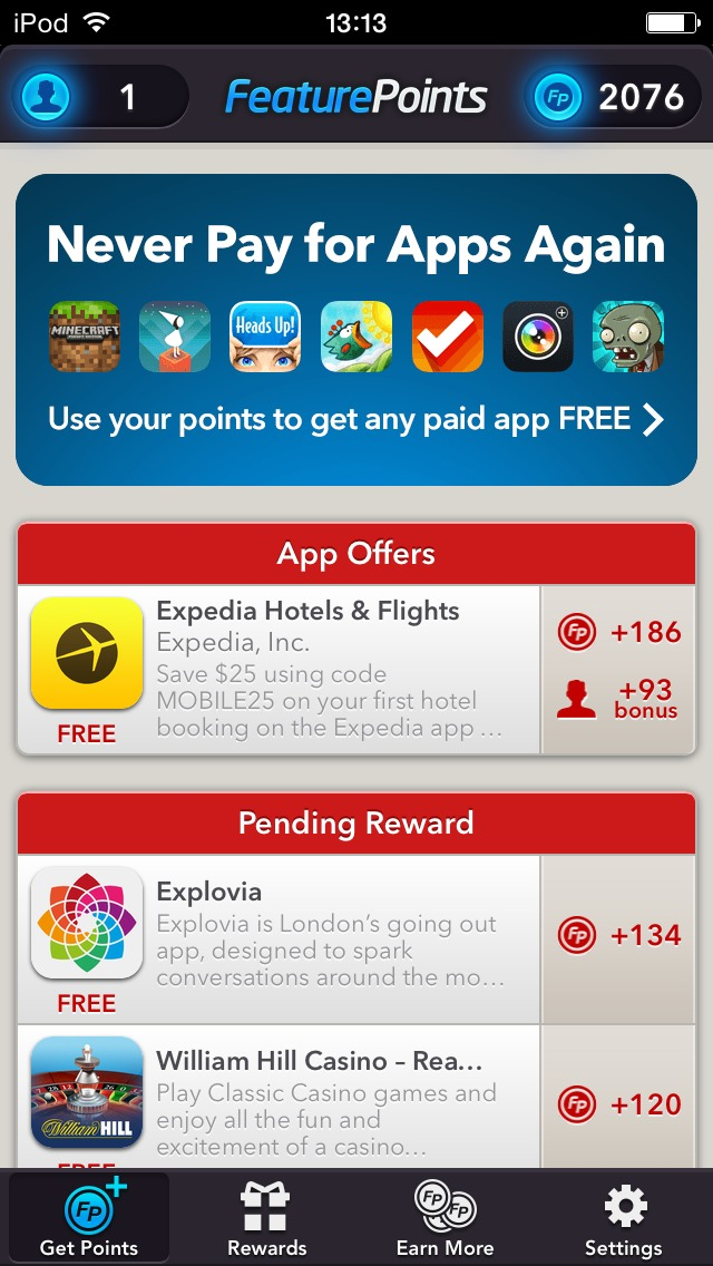 Step 3: Download the apps shown under App Offers, then open the apps downloaded for around thirty seconds.