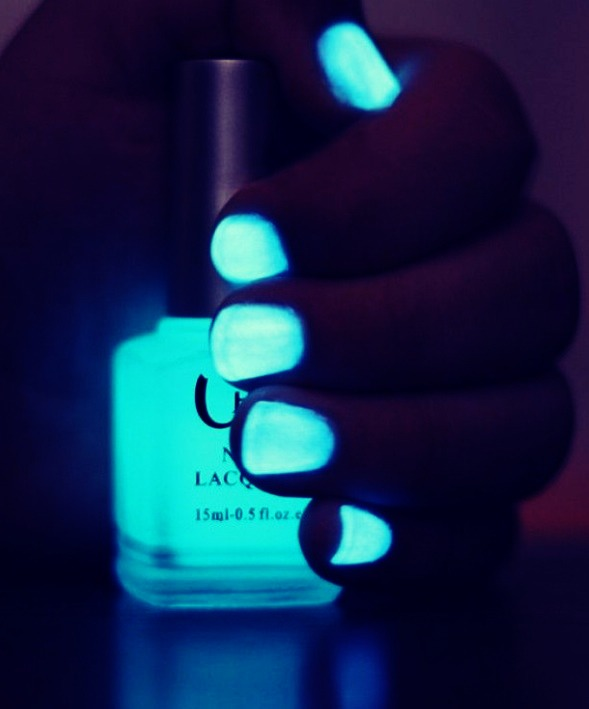 All You Have To Do Is Get Any Clear Nail Polish A Glow Stick