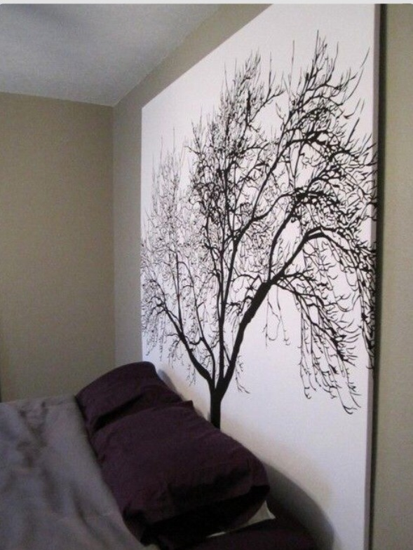 😏💡!! Staple a shower curtain into a wooden frame for inexpensive large scale artwork 😉👍