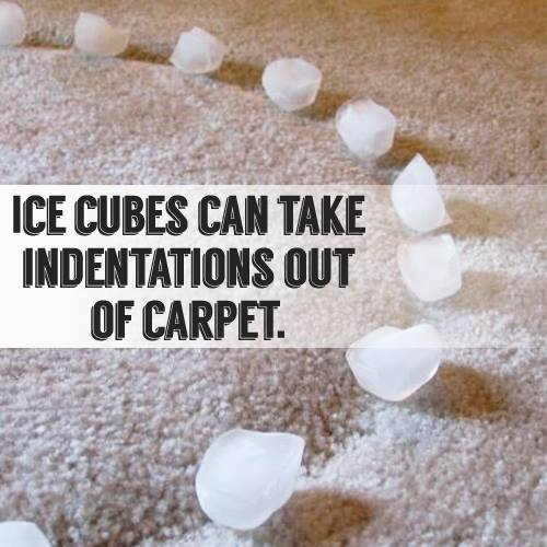 furniture leaving a dent in your carpet?