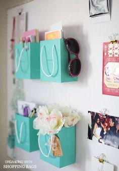 Use your cute shopping bags for extra storage