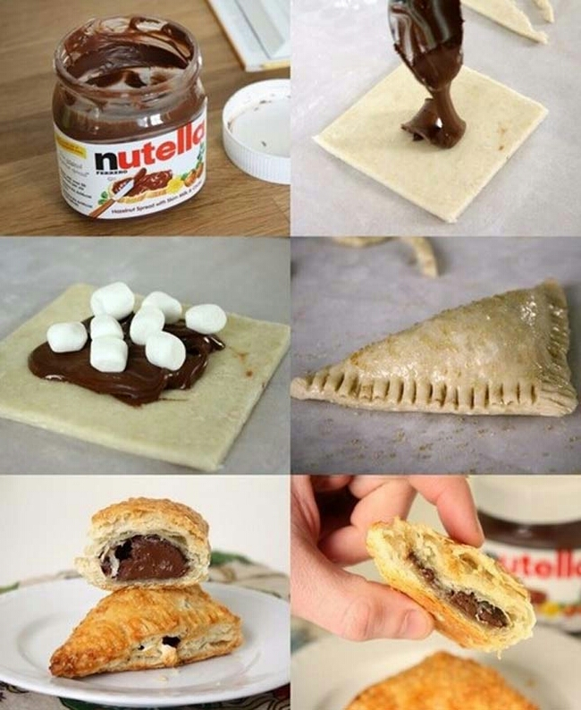 Store bought frozen pastries can be filled with virtually anything.