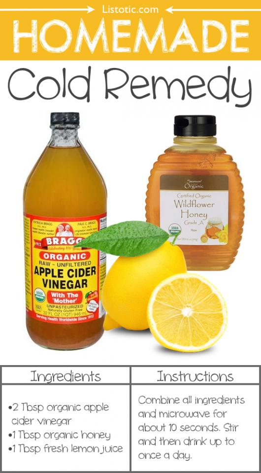 3. Homemade Cold Remedy