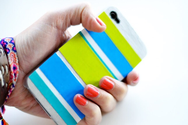 10. Duct Tape Case: Colorful duct tape is always a go-to when looking to customize just about anything.