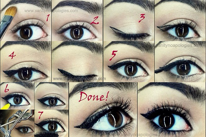 Next draw a thin line on your upper lash line .Then connect the tip of your first line to the line of your upper lash line .