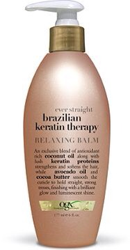 Extra tip: If I am going to straighten my hair I'll use Brazilian keratin therapy relaxing balm by organix on the bottom half my hair. It works great and is pretty cheap.
