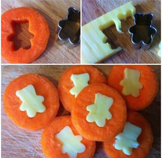 Cheese and carrot coins