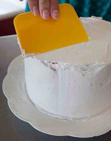 Frost the entire cake.