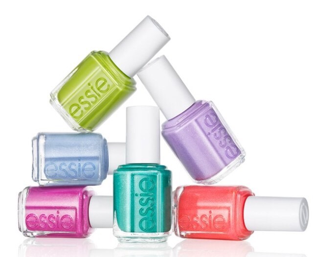 Last but not least, my favorite, favorite nail polish. Essie. They're colors are really fun, pretty, bright, and happy. They stay on for quite a while & look really good. They dry fast and look amazing when they're dry!