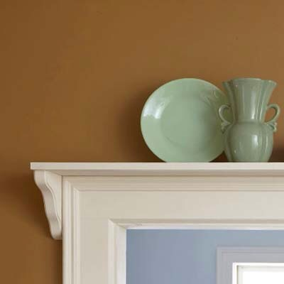Doorway Display  How to do it: Add a shelf above a doorway, paint it to match the trim, then use it to display pottery or any other nick nacks.  Please don't forget to like and follow.