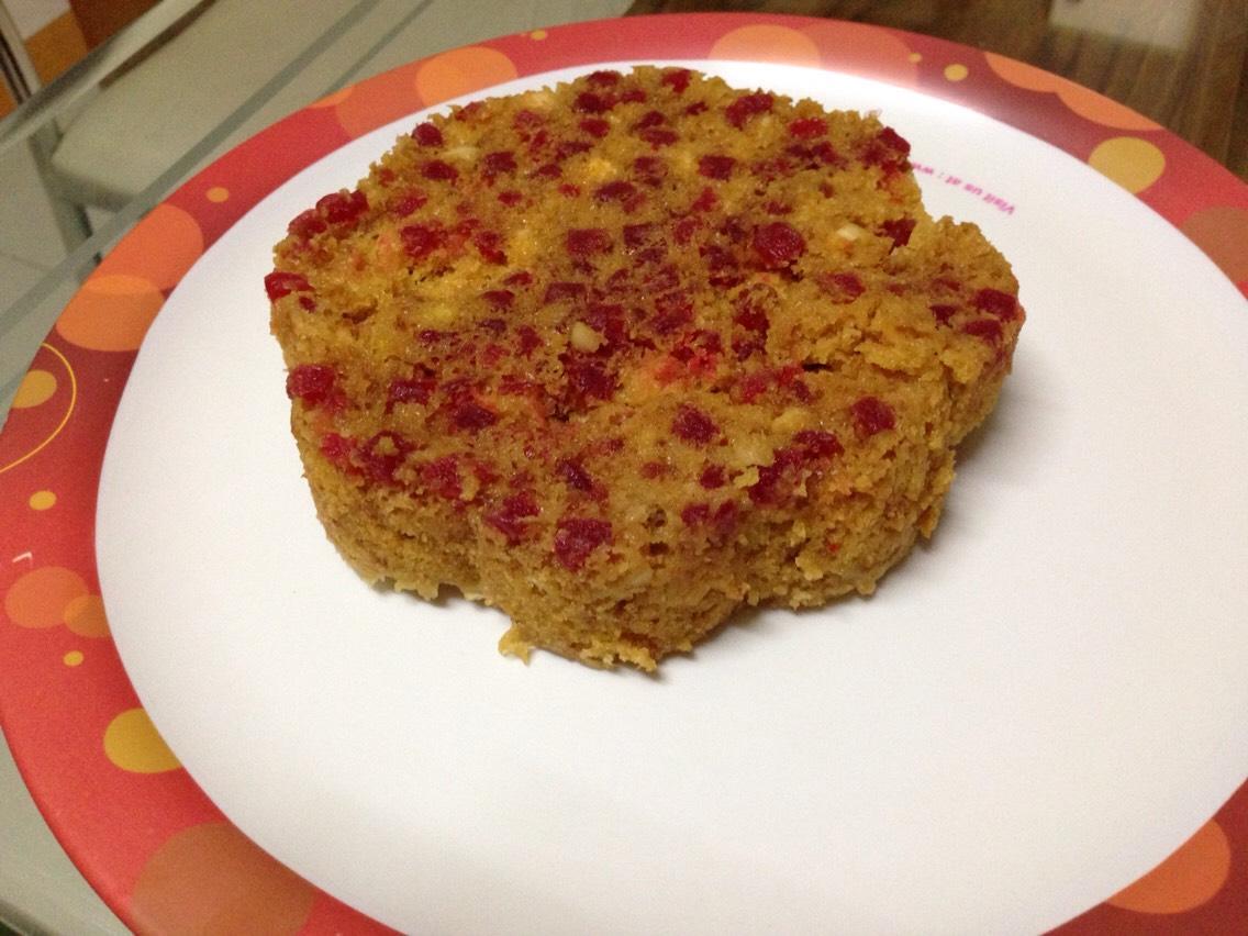 Bake the veg cake as instructed