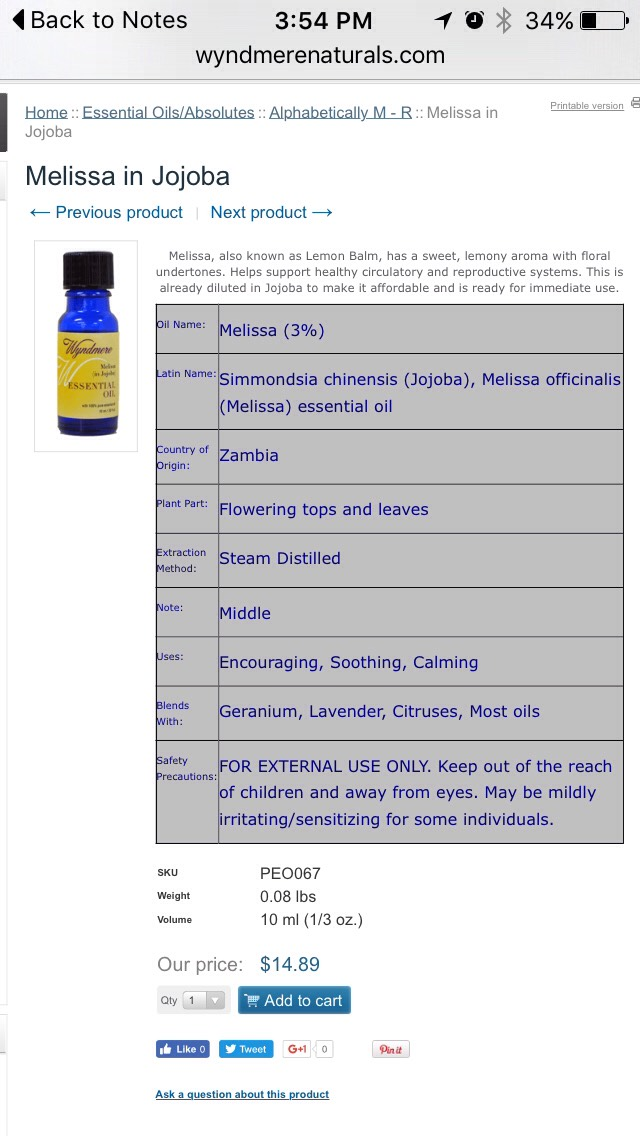 Ialso add someMelissaessentialoilfrom Wyndmere Naturals for a sweet lemonysmell and finish off the package with a cute homemade label.   MELISSA ESSENTIAL OIL |http://wyndmerenaturals.com/store/product.php?productid=67&cat=51&page=1