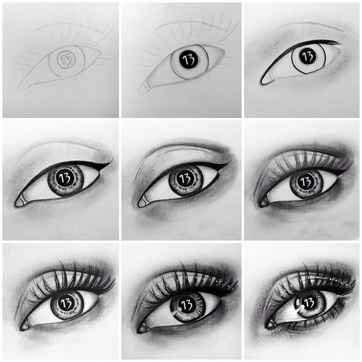 how to draw a really good eye