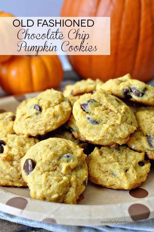 http://www.thirtyhandmadedays.com/2014/10/old-fashioned-chocolate-chip-pumpkin-cookies/