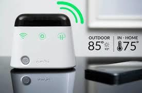 Ambi Climate helps optimize your AC in order to receive the perfect temperature by using the outside temperature, indoors information and personal preference/ needs. It is also easily manageable through phone or computer wherever you are.