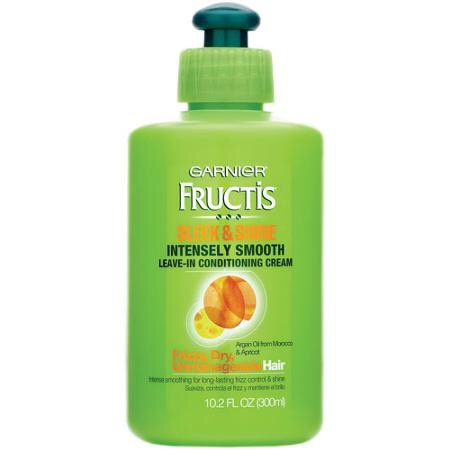 This Garnier Leave-In Conditioner does wonders for my naturally frizzy, dry hair. You can use it when you get out of the shower or when your hair is dry.