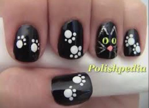 Cat nails🐱🎃💅