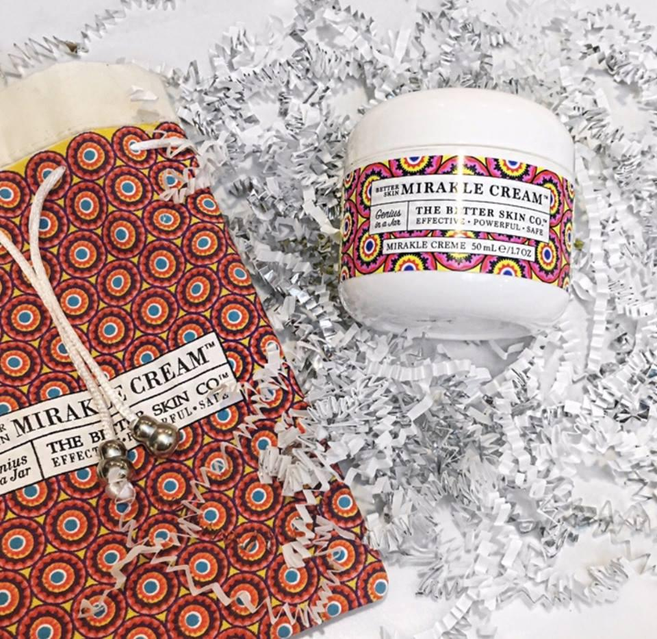 We Love the Story...and the Natural IngredientsWhat's outside is a fun design inspired by fabric from Natalya's home country.What's inside is an antioxidant-rich blend of coconut oil, sea buckthorn, aloe, algae, shea & cocoa butters&peptides. Together, these powerful ingredients moisturize, soften, and brighten your skin while fighting signs of aging and improving your skin's overall appearance.You'll be amazed by how radiant you look, and you'll love that this handcrafted-in-the-USA cream comes without the hefty price tag of many other high quality face creams.