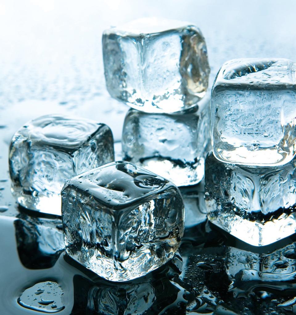 Put ice on pimples.