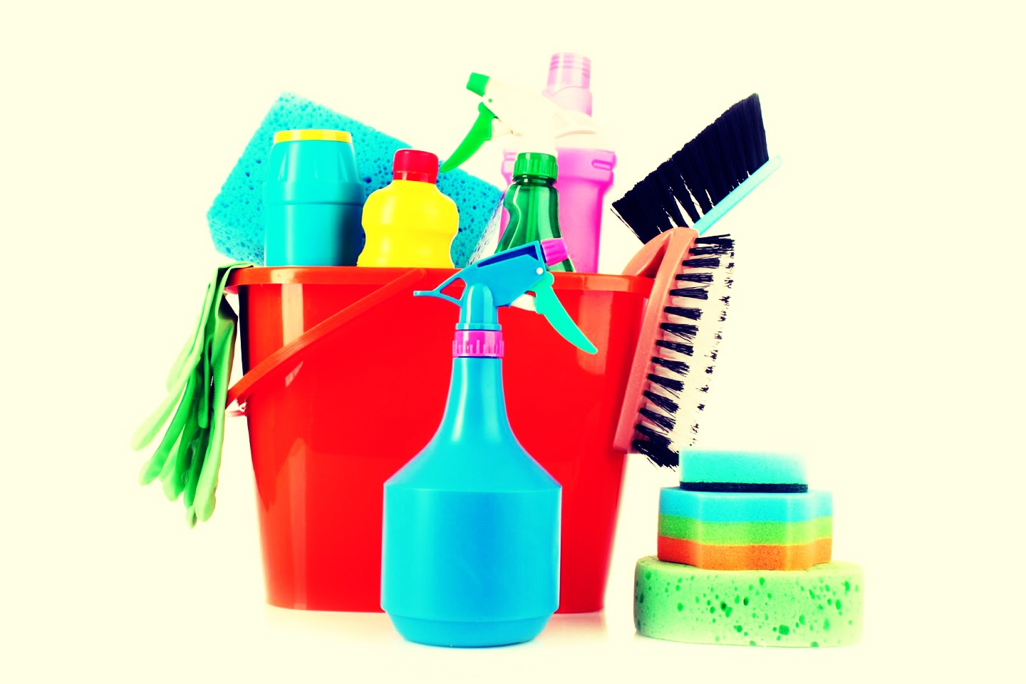 When cleaning is easy to workout; - when mopping, sweeping, or vacuuming do it on your tip toes to work your calves  - when doing laundry fold standing up and walk side to side to get steps in (FitBit)