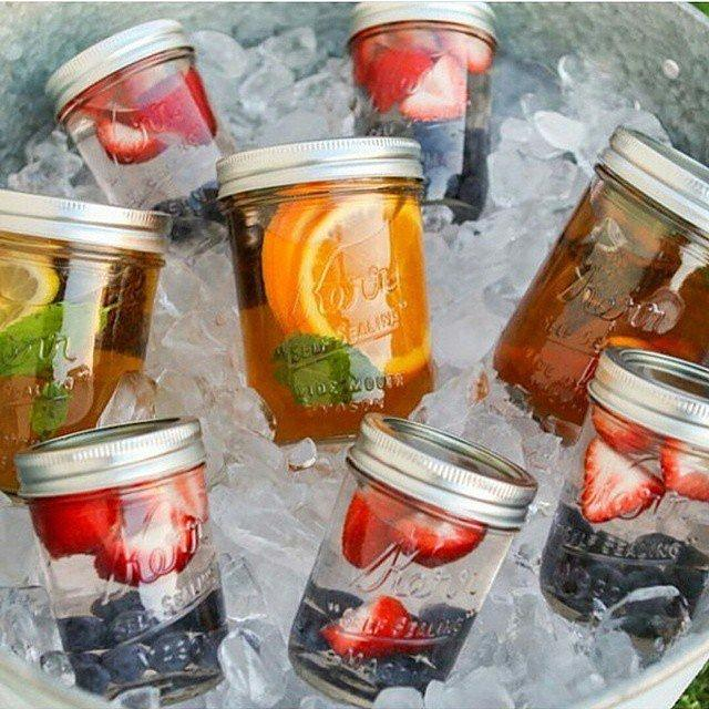It's Perfect For Summer Parties If you're hosting an outdoor party this Summer, keep a variety of fruit waters in a cooler of mason jars so your guests can stay hydrated all night long.