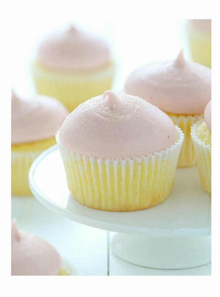 Strawberry Lemon Cupcake 🍋🍓❤