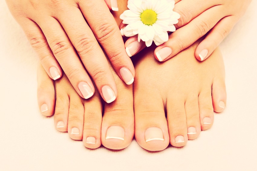 Rub some vasaline into your nails cuticles on both hands and feet after your daily shower💅