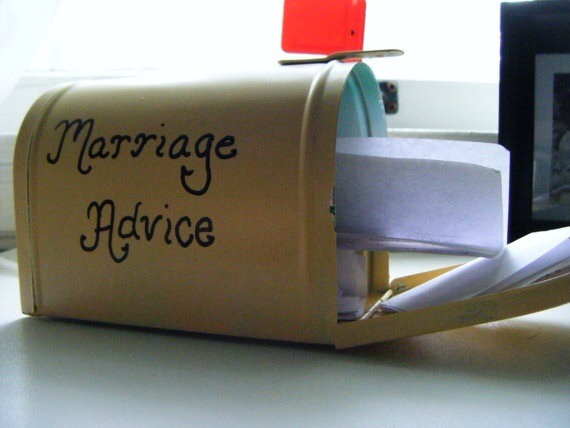 Put this little mailbox out on a table at your wedding/reception and see what people write. Such a cute idea!