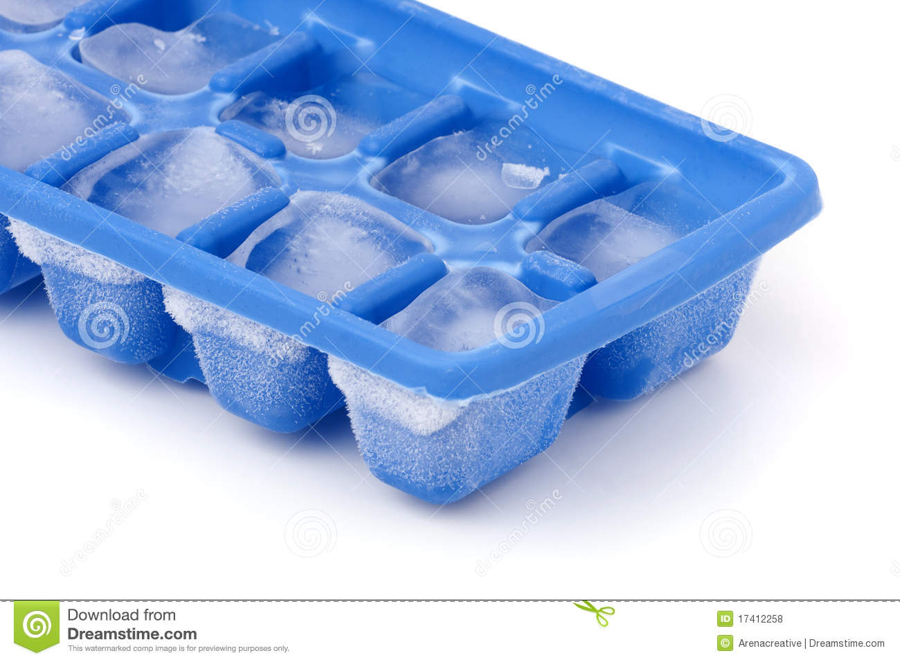 fill each box in the ice cube tray half way up with water and add a mento to each one. Then put it in the freezer over night
