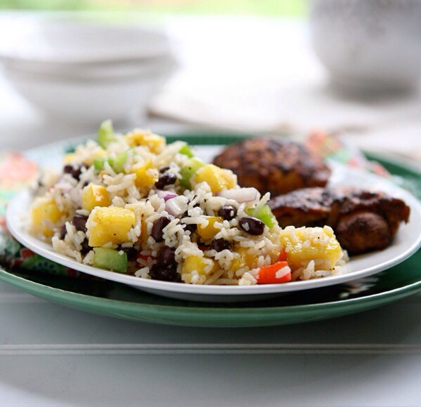 Jamaican Rice SaladSweet pineapple gives this salad a tropical twist! That's coupled with a punch of flavorful and spicy dressing, making for a perfectly balanced side dish.