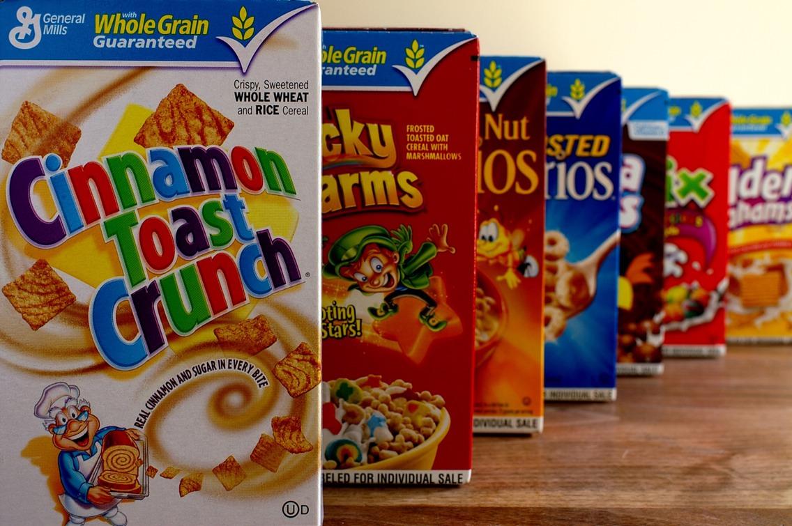 12. Sugar cereals