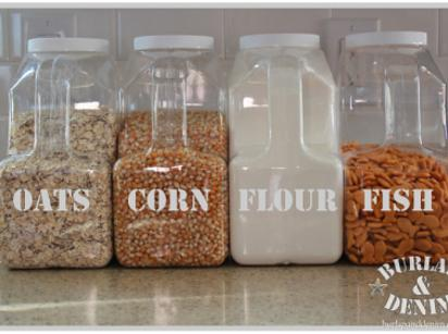 14. If you buy something in bulk a lot, save the containers to create your own bulk storage set.