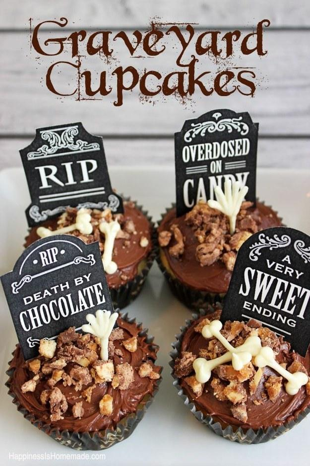 Recipe: http://www.happinessishomemade.net/2013/10/14/spooky-halloween-eyeball-punch-graveyard-cupcakes/