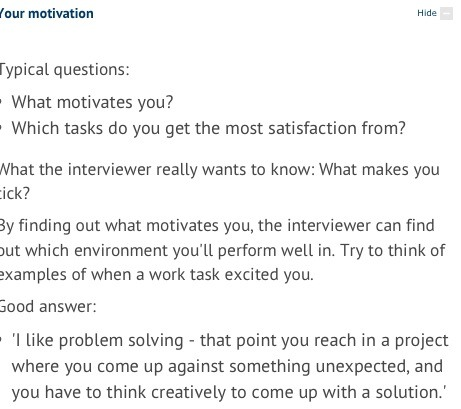 interview question what motivates you