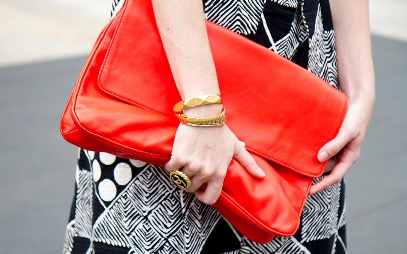 1. Oversized Clutch  A stylish going out bag is essential for your night out, but if you're packing a few essentials in there, you're going to want something functional too. Choose one that is big enough to disguise all the necessities without looking like you planned too hard for the night!