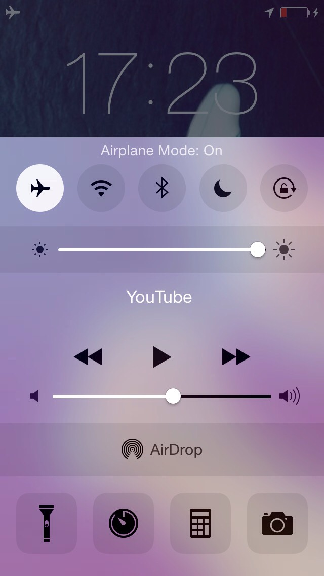 Then switch to airplane mode...