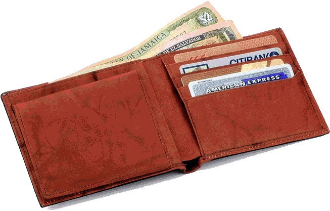 Always keep a wallet on you with cash, a card, or both