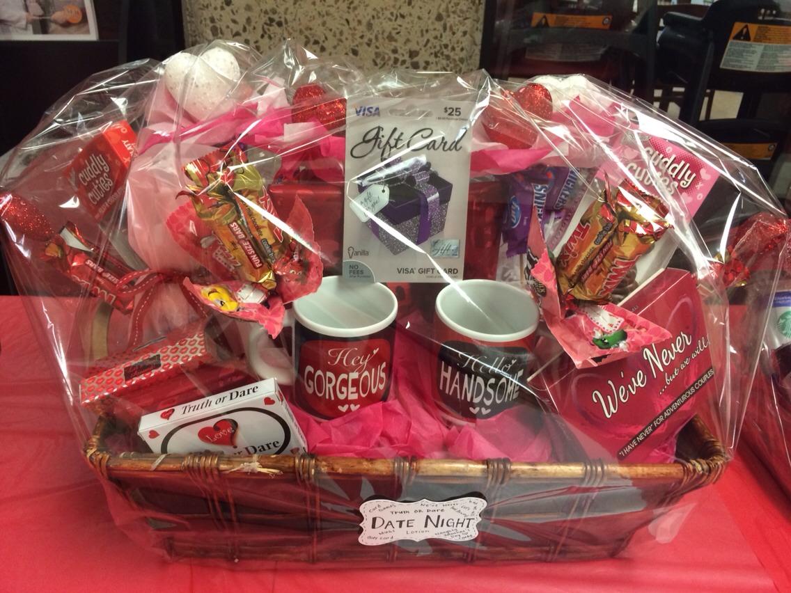 Date Night Basket Card Games Naughty Candy Mugs Gift Card